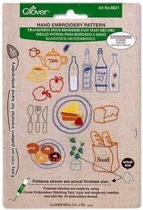 Clover Kitchen Design Iron-On Transfer Embroidery Pattern