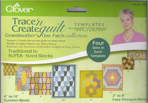 Clover  Patchwork template Grandmothers One Patch Collection by Nancy Zieman
