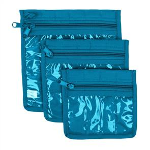 Yazzii Craft Pouches 3pc set Aqua