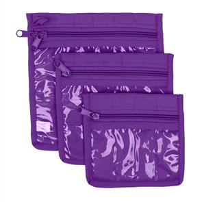 Yazzii Craft Pouches 3pc set Purple