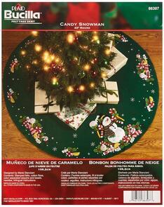 Bucilla  Candy Snowman Christmas Felt Applique Kit
