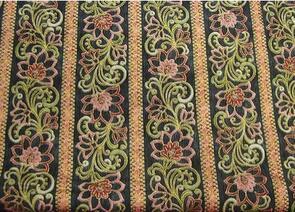 RJR Fabric s - Claridge Manor - Floral Stripe Black