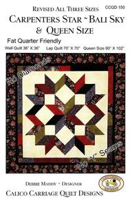 Calico Carriage Quilt Designs Carpenters Star - Bali Sky Quilt Pattern