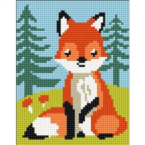 Collection D'Art  Stamped Needlepoint Kit - Fox-Cub 20X25cm