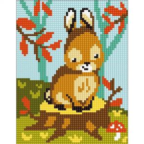 Collection D'Art  Stamped Needlepoint Kit - Bunny 20X25cm