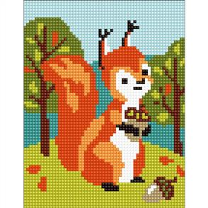 Collection D'Art  Stamped Needlepoint Kit - Squirrel 20X25cm