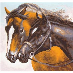 Collection D'Art  Printed Cross Stitch - Horses