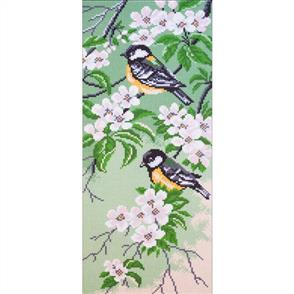 Collection D'Art  Printed Cross Stitch - Titmouse Birds