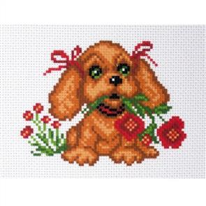 Collection D'Art  Printed Cross Stitch - My Puppy