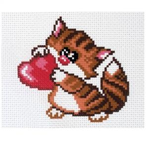 Collection D'Art  Printed Cross Stitch - Meow