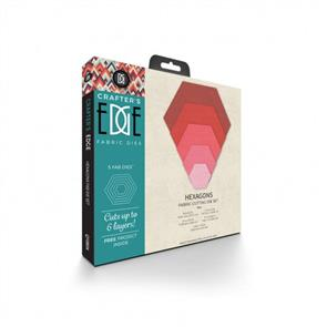 Craft's Edge Fabric Dies - Hexagons 5pc - Die Set
