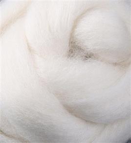 Ashford Corriedale Fibre Pack 100g - Natural White 091