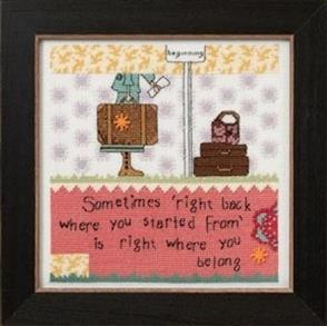 Mill Hill  Bead & Cross Stitch Kit: Right Back (Quote)