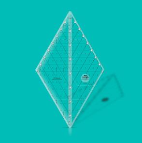 "Creative Grids 60 Degree Diamond Ruler - 16.5"""