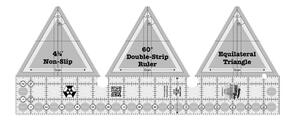 Creative Grids 60 Degree Double-Strip Quilt Ruler