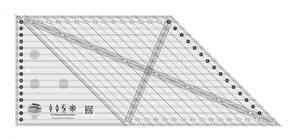 Creative Grids 45 Degree Diamond Dimensions Quilt Ruler