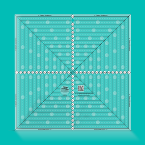 Creative Grids 14-1/2in Square It Up or Fussy Cut Square Quilt Ruler