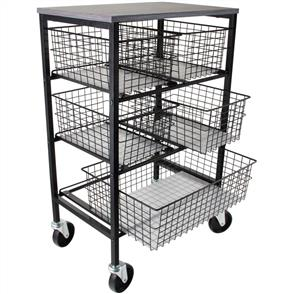 Idea-Ology  Tim Holtz Rolling Utitlty Basket Storage Cart W/5 Drawers