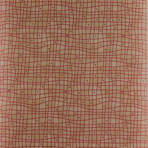 Clothworks  Heart and Home - Grid Beige