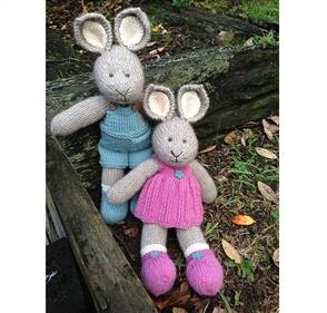 Cameron-James Designs  Lexie and Dunstan Bunny Knitting Pattewrn