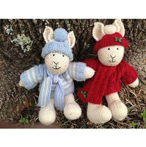 Cameron-James Designs  Winter and Holly Bunny Knitting Pattern