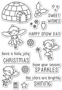 Poppystamps Wintertime Fairies Stamp Set