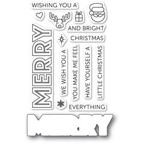 Poppystamps  Merry Everything Clear Stamp Set