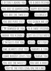 Poppystamps  Whittle Sayings - Clear Stamp Set