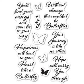 Poppystamps Stamp: Butterfly Greetings