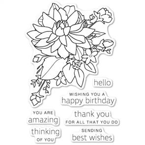 Poppystamps Stamp: Peony Bouquet