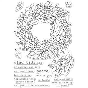 Memory Box Stamps - Tidings Wreath