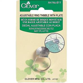 Clover  Ring Thimble W/Plate