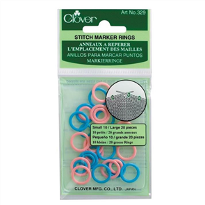 Clover  Stitch Marker Rings - Small/Large 30/Pkg