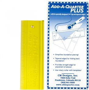 CM Designs  Add A-Quarter Ruler 6in Plus