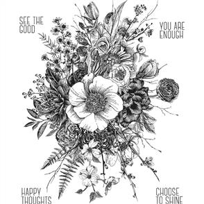 Stampers Anonymous Tim Holtz Cling Stamps - Glorious Garden