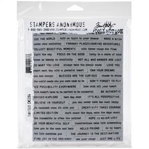 "Stampers Anonymous Tim Holtz - Cling Stamps 7""X8.5"" - Tiny Text"