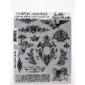 "Stampers Anonymous Tim Holtz - Cling Stamps 7""X8.5"" - Urban Elements"