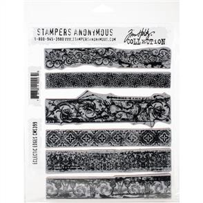 "Stampers Anonymous Tim Holtz - Cling Stamps 7""X8.5"" - Eclectic Edges"