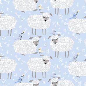 Trendy Trims - Fabric - Contempo Bany Buddies - 10282.05 - Blue