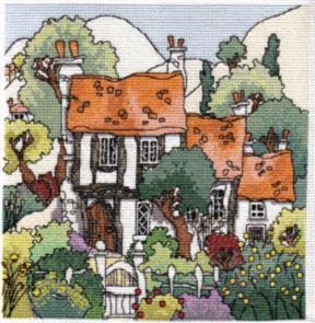 Michael Powell  Cross Stitch Chart Pack: Cottage Gardens 1