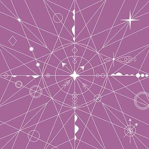 Andover Fabric  Alison Glass Hopscotch 100 Years - 22 Compass - 2020 - Purple