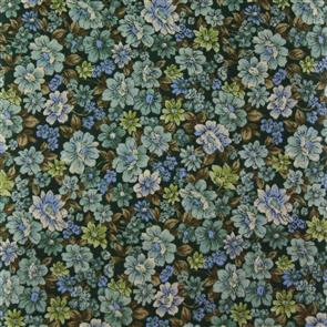 Cosmo Textiles  Packed Floral - Green