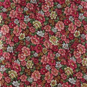 Cosmo Textiles  Packed Floral - Pink