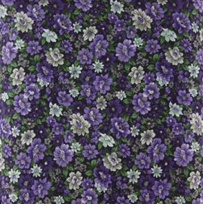 Cosmo Textiles  Packed Floral - Purple