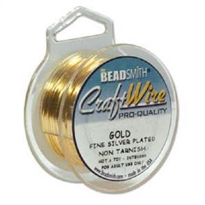 Beadsmith  18 Gauge - Gold Color Wire - 3.6m