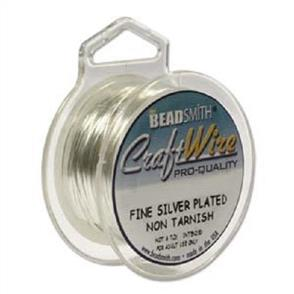 Beadsmith  18 Gauge - Silver Color Wire - 3.6m
