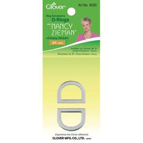 Clover D-Ring 18mm Nickel | Nancy Zieman