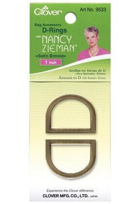 Clover D-Ring 25mm Bronze | Nancy Zieman