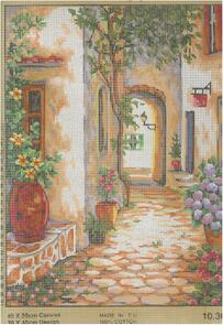 Collection D'Art  Tapestry Canvas 40X50 Street Scene