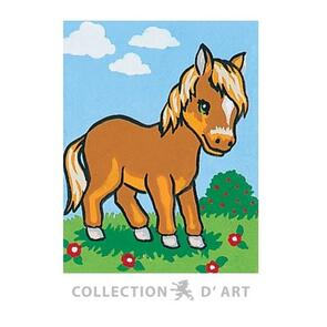 Collection D'Art  Tapestry Canvas 20X25 Brown Donkey